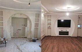 Avant-après rénovation d'intérieur