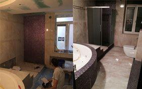 avant-après rénovation de sallede bain
