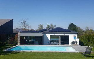 maison avec piscine et chauffagesolaire