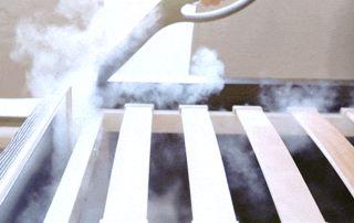 vaporisation produit insecticide sur boxspring