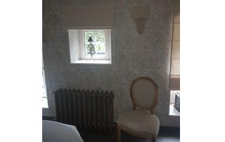 chambre tapissée