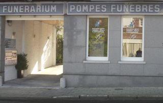 façade funérarium et pompes funèbres Saint Pierre