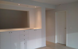 Appartement fraichement repeint