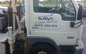 Tête du camion de Savi