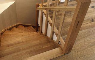 palier descalier sur mesure en bois