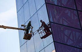 Elevateur nettoyage de vitres en hauteur