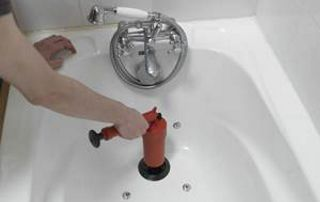 débouchage de baignoire avec furet