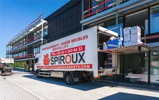 camion de déménagement Spiroux