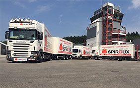 flotte de camions de déménageurs