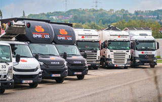 flotte de camions Spiroux