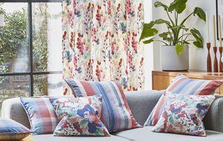 rideaux à fleurs