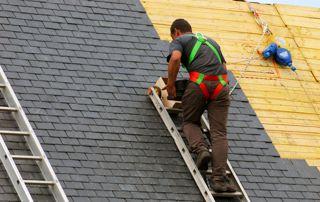 Construction de toiture en tuiles