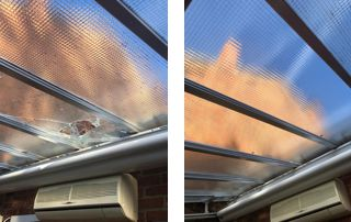 réparation toit vitré
