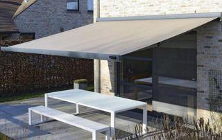 Tente solaire terrasse banc