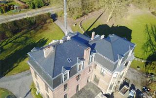 chantier de toiture en Brabant wallon
