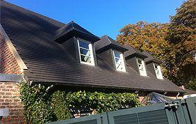 toiture ardoises avec 4 fenêtres