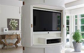 meuble télévision sur mesure blanc