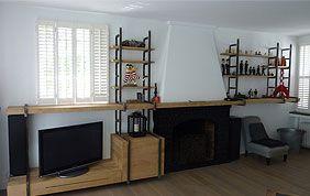 meuble télévision sur mesure bois