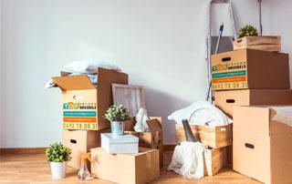cartons emballés