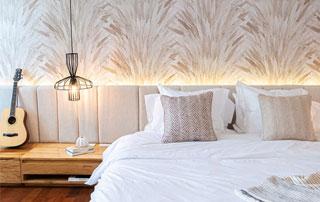 tapissage chambre à coucher