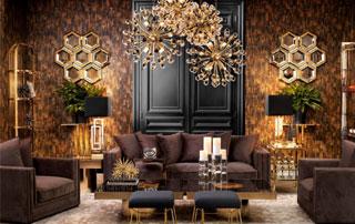 pièce décorée avec luxe