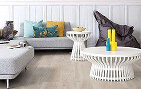 parquet semi-massif bois clair salon