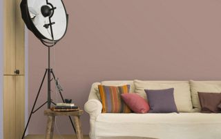 peinture murale rose foncé