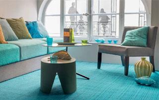 tapis plain turquoise
