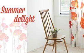 rideaux à fleurs Summer Delight