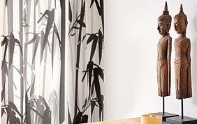 rideaux imprimé noir et blanc