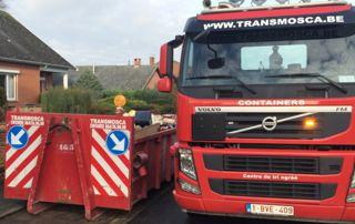 camion Transmosca pour livraison container
