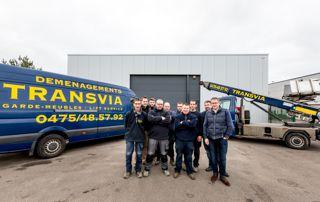 équipe des déménageurs Transvia