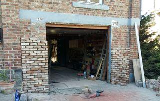 Rénovation d'une entrée de garage en bloc