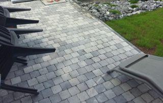 aménagement de terrasse pierre bleue