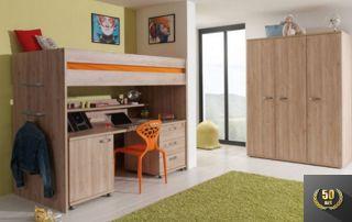 meuble modulable : lit superposé et bureau