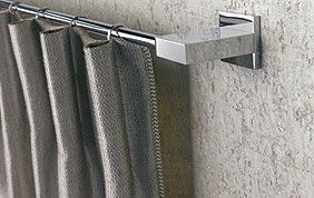 barre de rideaux en métal