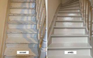 Avant/après peinture escaliers