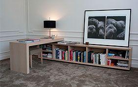 Bureau et étagère au sol sur mesure