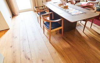 plancher en bois vieilli design
