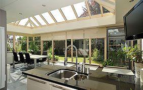 Extension de maison vue de l'intérieur