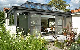 veranda ouverte sur jardin