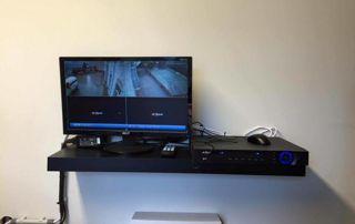 vidéo reliée à une caméra de surveillance