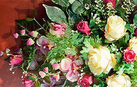 fleurs naturelles pous funérailles