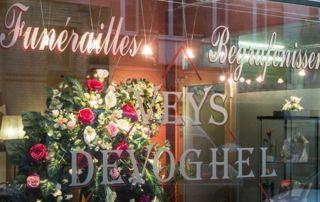 vitrine pompes funèbres Veys-Devoghel