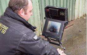 inspection par caméra des égouts