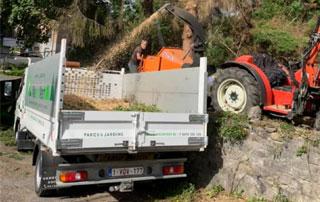 évacuation bois et déchets verts