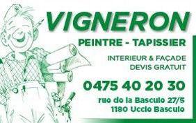 Logo entreprise de peinture Vigneron