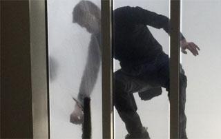 nettoyage de fenêtre en hauteur