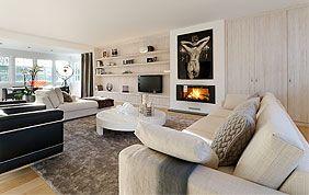 meubles de rangement en bois salon