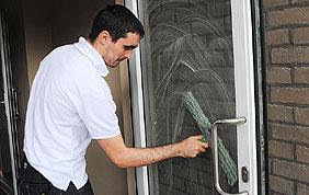 lavage porte vitrée